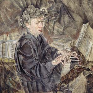 Gemälde / Öl auf Leinwand, Ferruccio Busoni (1916) von Max Oppenheimer