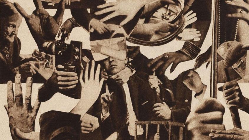 """""""Handgemenge"""" Fotomontage. Aus: """"Die Arbeiter-Illustrierte-Zeitung aller Länder : AIZ"""" 1929, Nr. 2 – redaktionelle Arbeit, anonym"""