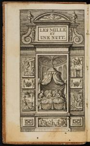 ©SBB-PK [Frontispiz von Antoine Galland, Les Mille Et Une Nuit. Contes Arabes, Leiden 1768, Bd. 1]