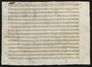 Ludwig van Beethoven, 5. Sinfonie c-Moll op. 67, Beginn des ersten Satzes, Autograph, 1804–1808