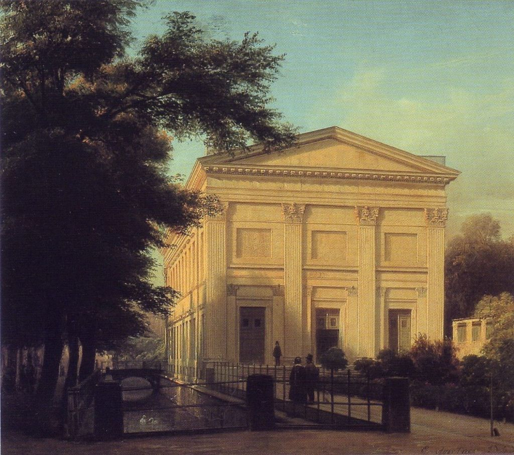 Sing-Akademie building on Unter den Linden, Berlin Mitte. Oil painting by Eduard Gaertner, 1843. - Public Domain