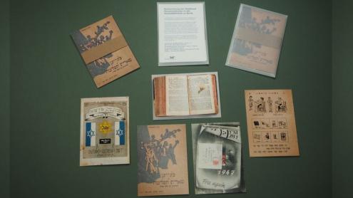 Postkartenset zur Displaced Persons-Literatur der Staatsbibliothek zu Berlin