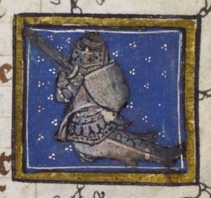 Jacob van Maerlant, Der Naturen Bloeme, fol. 47r: Der Ritter der Meere (zitirion)