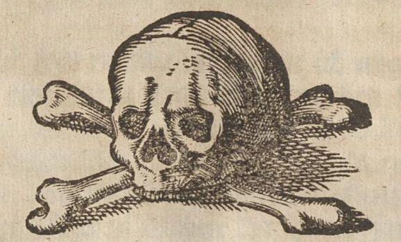 Titelblattvignette der Abdankungs-Rede von Friedrich Rusius auf den Tod von Beata Christina Otterstedt, die im Jahr 1671 zwanzigjährig mit ihrem totgeborenen Töchterlein verstarb (VD17 1:035620K)