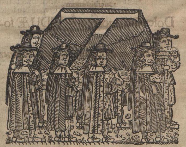 Holzschnitt aus der Leichenpredigt von Friedrich Weise auf den 1693 verstorbenen Konrektor des Gymnasiums Schulpforta Christian Günther (VD17 39:118590H)