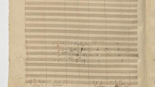 """Ludwig van Beethoven, 4. Satz der 9. Sinfonie d-Moll op. 125, """"[O Freunde, nicht] diese Töne! Sondern laßt uns angenehmere anstimmen"""""""