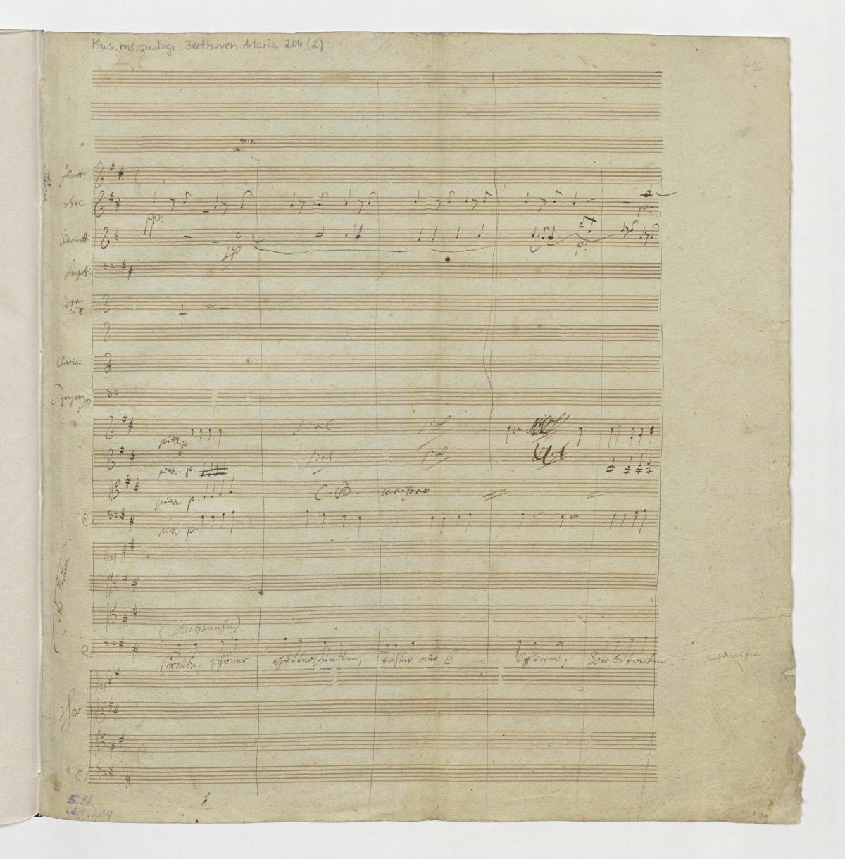 "Ludwig van Beethoven, 4. Satz der 9. Sinfonie d-Moll op. 125, ""Freude schöner Götterfunken, Tochter aus Elysium"""