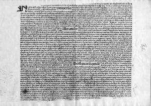 Aloysius de Capris, Notariatsinstrument (Einblattdruck), 1494. Besitzer unbekannt