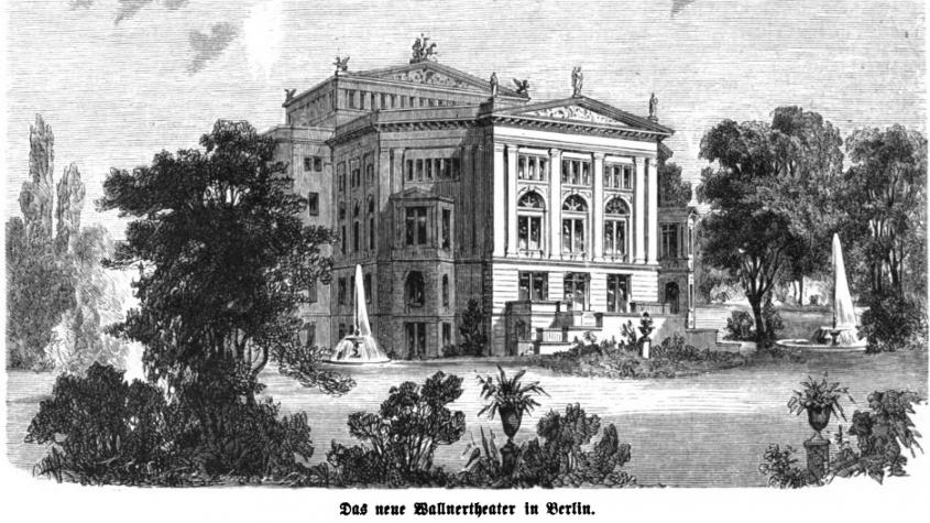 Das Wallner-Theater in Berlin, eines von mehr als 15 Theatern, die Klaus Mann in seiner Zeit als Theaterkritiker für die Neue Berliner Zeitung besuchte. Das Theater wurde im Jahr 1932 umgebaut. – Public Domain