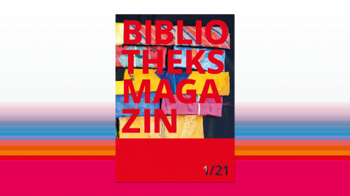 Bibliotheksmagazin, Cover der Ausgabe 1/21, Sandra Caspers, Staatsbibliothek zu Berlin-PK - Lizenz: CC-BY-NC-SA-3.0