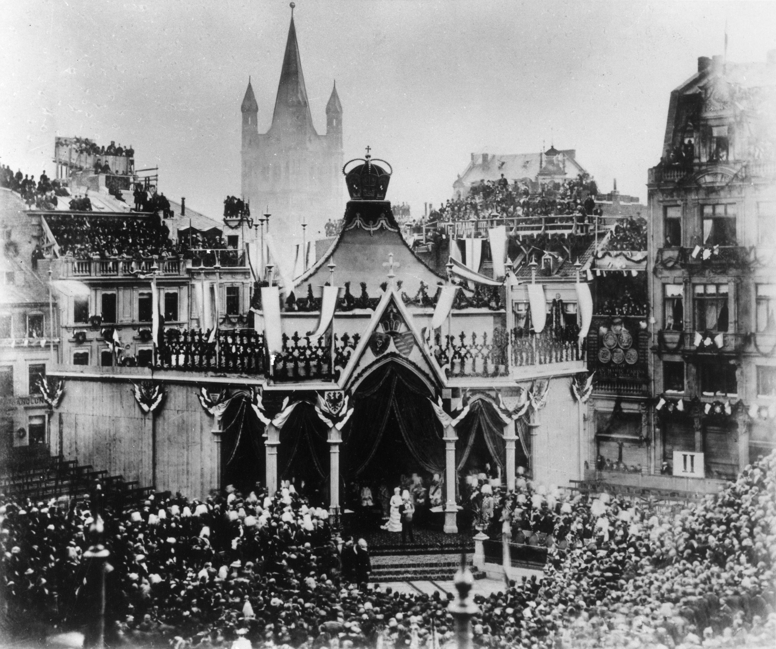 Einweihung Schlusssteinlegung Des Kolner Doms Am 18 Oktober 1880 In Anwesenheit Von Kaiser Wilhelm I Und Kaiserin Augusta Sbb Aktuell