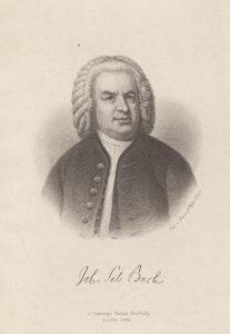 Johann Sebastian Bach. Kupferstich von August Weger (um 1865), nach einem 1746 entstandenen Gemälde von Elias Gottlob Haußmann. Lizenz CC-BY-NC-SA