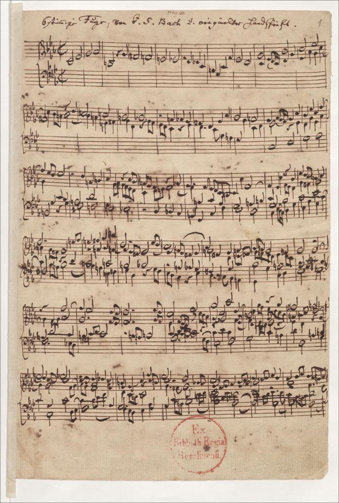 Johann Sebastian Bach: Musikalisches Opfer, Ricercat a 6 / Staatsbibliothek zu Berlin-PK. Lizenz: CC BY-NC-SA 4.0