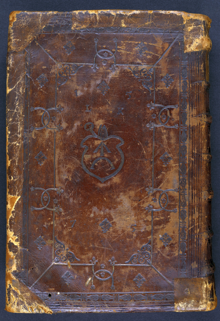 Hinterer Einband von 4° Be 308-1. - Staatsbibliothek zu Berlin-PK - Lizenz: CC-BY-NC-SA 3.0