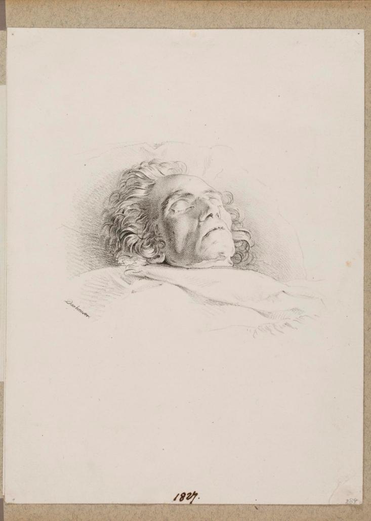 Der Leichnam Ludwig van Beethovens