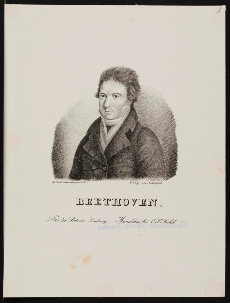 Ludwig van Beethoven, Lithografie von A. Hatzfeld