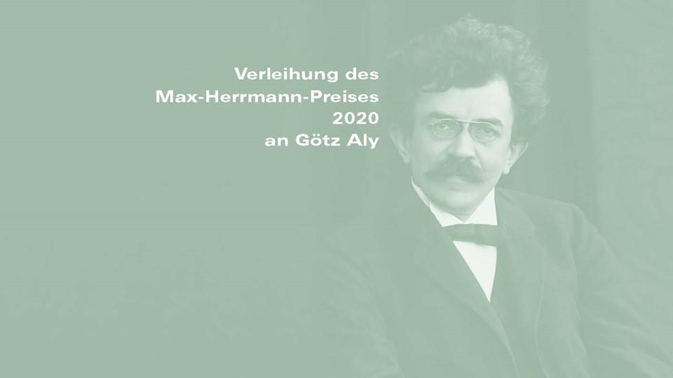 Max-Herrmann-Preis 2020 an Götz Aly