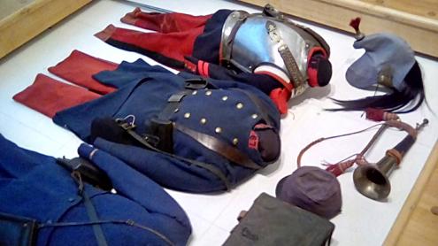 Historial de la Grande Guerre - Musée de Péronne / Salle 1914-1916 / Uniforme du soldat français début de guerre