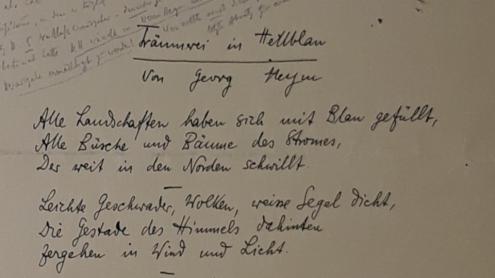 Ausschnitt aus einem Brief von Kurt Hiller an Hermann Heym