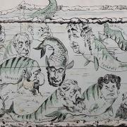L' aquarium. Faustin (1847-1914) [Zeichner/in] [2 fache Ausführung]. [Paris], [1870/71] Lithografie.