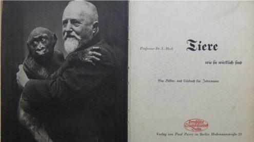 Titelblatt der Buchpatenschaft Oktober: Heck - Tiere, wie sie wirklich sind. Berlin: Parey, 1934.