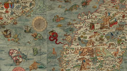 Ausschnitt aus der Carta Marina des Olaus Magnus (1539)