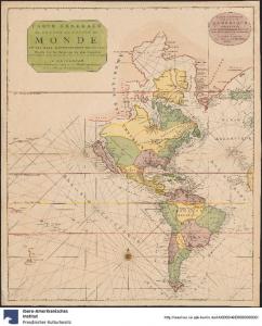 Carte Generale de Toutes Les Costes Du Monde Et Les Pays Nouvellement Decouvert. Nicolaas Witsen, Amsterdam 1730. https://digital.iai.spk-berlin.de/viewer/image/630108048/1/