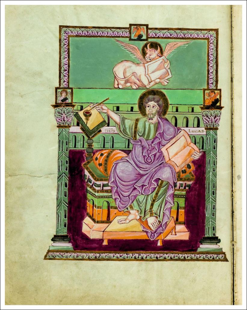 Beginn des Lukas-Evangeliums / Staatsbibliothek zu Berlin-PK. Lizenz: CC BY-NC-SA 4.0