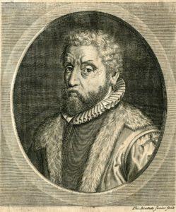 Porträt Dirk Volkertszoon Coornhert, Kupferstich/Radierung von Philibert Bouttats,um 1700. Handschriftenabteilung. Lizenz: CC-BY-NC-SA