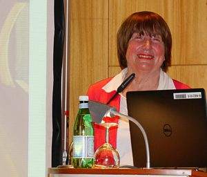 Die Referentin, Birgit Dankert, erfreute das Publikum mit einem gleichermaßen kenntnisreichen und kurzweiligen Vortrag. Staatsbibliothek zu Berlin-PK/S. Putjenter CC NC-BY-SA