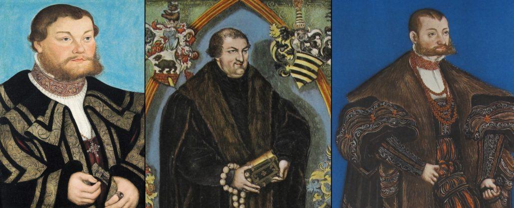 Die drei Brüder Johann, Georg und Joachim von Anhalt