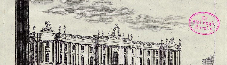 Die Königliche Bibliothek Berlin (Kommode) – um 1800