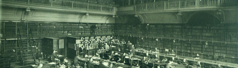 Der große Lesesaal der Königlichen Bibliothek (Kommode) - 1905