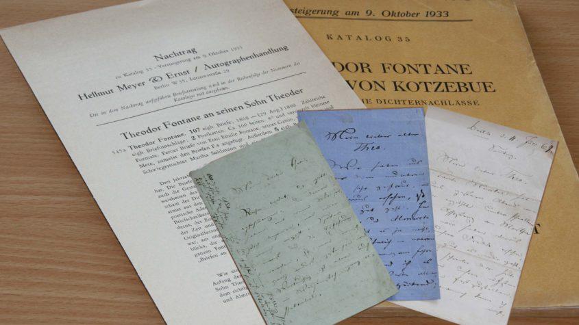 Dokumente aus dem Fontane-Nachlass || CC BY-SA-NC 3.0