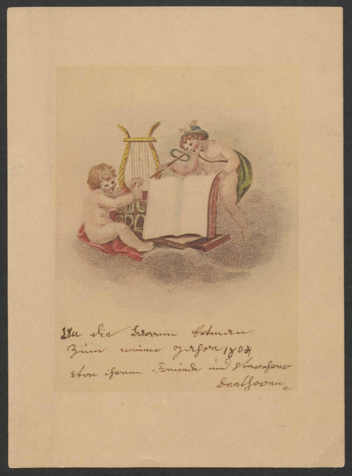 Ludwig van Beethoven, Grußkarte an Baronin Dorothea von Ertmann