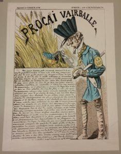 """Karikatur """"Procai Vairballe"""" - aus der Sammlung Kaiser Wilhelm I."""