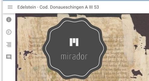 """Ansicht aus dem Mirador-Viewer. Boner: """"Edelstein"""" (D), um 1445/1450 (Badische Landesbibliothek Karlsruhe, Cod. Donaueschingen A III 53)."""