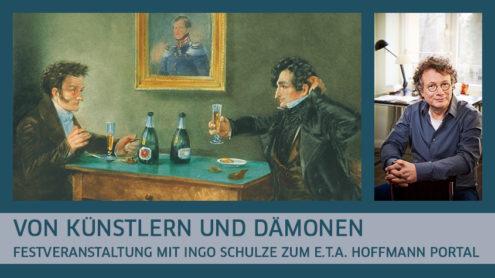 E.T.A. Hoffmann (links) und Ludwig Devrient im Weinkeller von Lutter & Wegner in Berlin (um 1900) © bpk | Ingo Schulze © Gaby Gerster