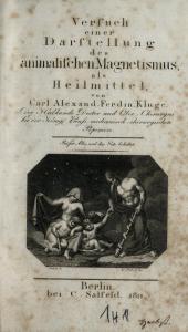 C.A.F. Kluge: Versuch einer Darstellung des animalischen Magnetismus als Heilmittel. Berlin 1811. SBB-PK Sign. 26 ZZ 51. Public Domain.