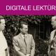 Dietrich Bonhoeffer (rechts) Zigarette in der Hand haltend mit Eberhard Bethge und Hellmut Traub vor dem Jagdhaus Sigurdshof. August 1939. Copyright: bpk / Staatsbibliothek zu Berlin.