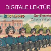 Gruss von der Musterung - Zur Frauenbewegung. Zukunftsbild der Pioniere. Copyright: Historische Bildpostkarten - Universität Osnabrück (creativecommons.org/licenses/by-nc-sa/4.0/deed.de).