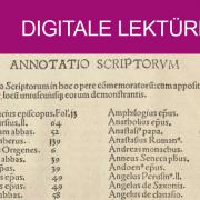Johannes Trithemius: De scriptoribus ecclesiasticis. Basel: [Johann Amerbach, nach 28. August 1494]. Staatsbibliothek zu Berlin – Preußischer Kulturbesitz, 4° Inc 462c, Bl. 2a (Anfang des Autorenregisters)