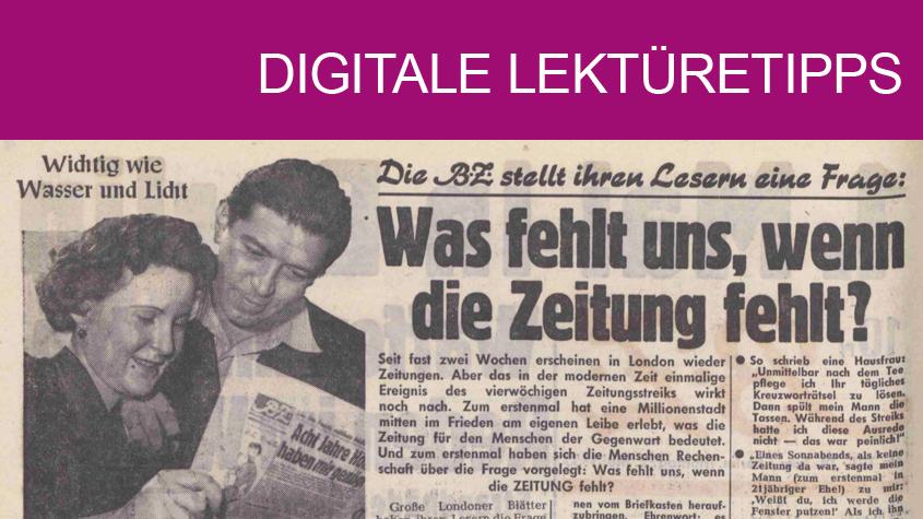 BZ Mo, 02.05.1955, Nr. 101, S. 2: Was fehlt uns, wenn die Zeitung fehlt? Copyright: Axel Springer Verlag