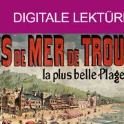 """Bildausschnitt: Affiche / Plakat """"Bains de mer de Trouville..."""" von A. F. (Plakatmaler). 1890. Source gallica.bnf.fr / BnF"""