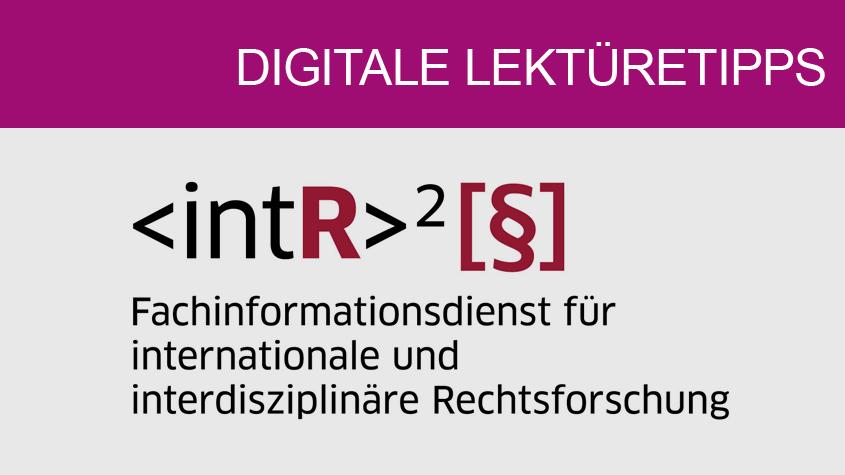 Logo des Fachinformationsdienstes für internationale und interdisziplinäre Rechtsforschung