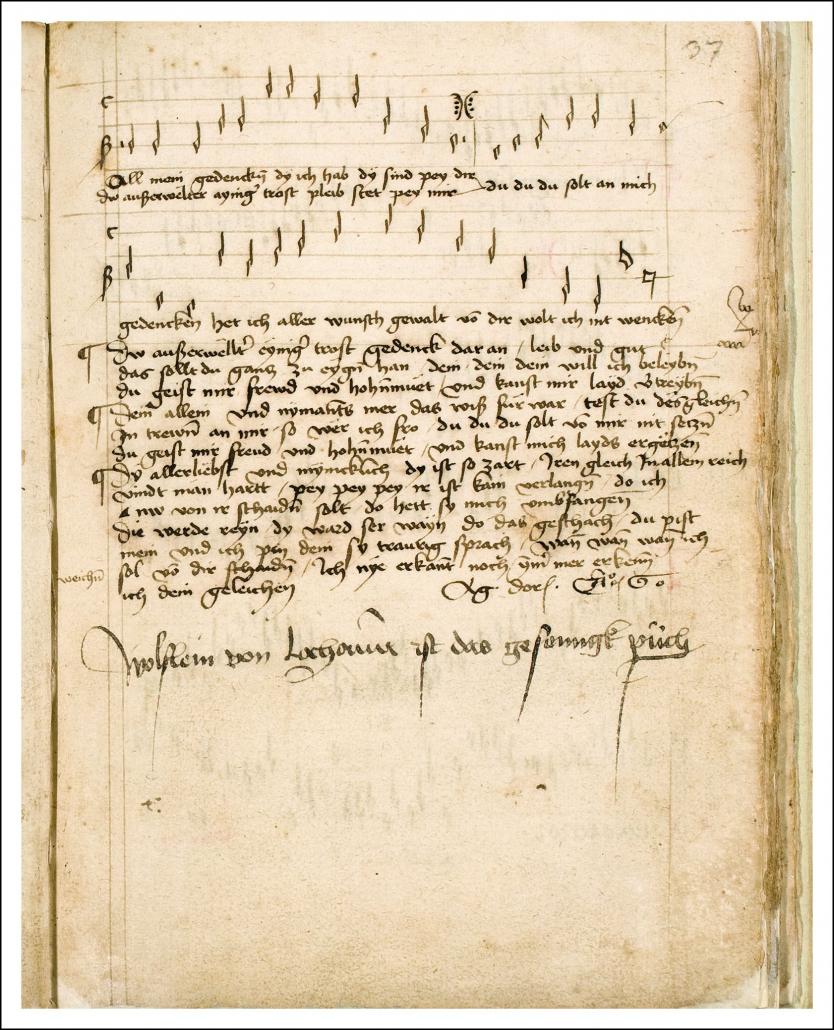 Lochamer Liederbuch / Staatsbibliothek zu Berlin-PK. Lizenz: CC BY-NC-SA 4.0