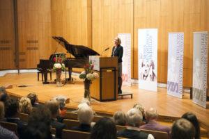 Generaldirektorin Barbara Schneider-Kempf begrüßt die Gäste. Foto: Margrit Schmidt, MMZ