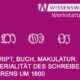Veranstaltungsreihe Die Materialität von Schriftlichkeit | SBB-PK CC-BY-NC-SA 3.0