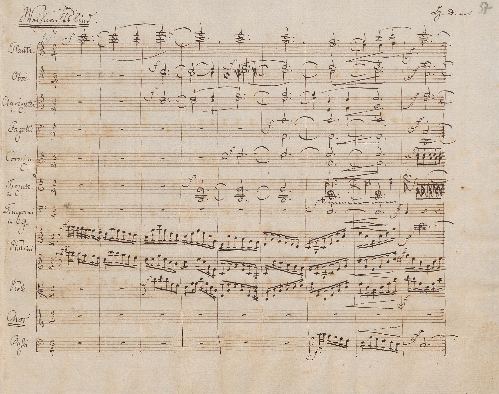 Felix Mendelssohn Bartholdy: Vom Himmel hoch da komm ich her MWV A 10. Autographe Partitur. Musikabteilung. Lizenz: CC-BY-NC-SA