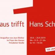 """Ausstellung """"bau1haus trifft Hans Scharoun"""" anlässlich des Jubiläumsjahres """"100 JAHRE BAUHAUS"""""""